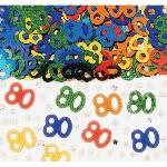 Confeti Multicolor para Mesa o Invitaciones Cumpleaños 80