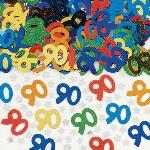Confeti Multicolor para Mesa o Invitaciones Cumpleaños 90