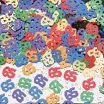 Confeti Number 65 Multi Colour Metallic 14g