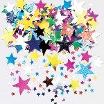 Confeti Papel Picado de estrellitas multicolores