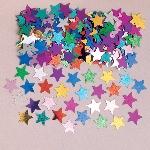 Confetti de estrellas multicolores para poner en la mesa/tarjetas de invitaciones