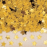 Confeti Papel Picado para Mesa/ Invitaciones Estrellas Doradas - Oro