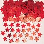 Confeti de mesa con forma de estrellitas rojas