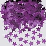 Confeti Estrellas Violeta para Mesa / Invitación