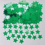 Confeti de mesa con forma de estrellitas verdes