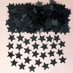 Polvo de estrellas negras confeti de mesa o invitación - 14g