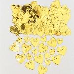 Confeti corazones dorados para Mesa / Invitaciones - 14g