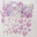 Confeti de mesa o invitación de corazones iridiscentes
