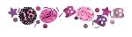 Confetti de celebración de color de rosa de 18 años - 34g