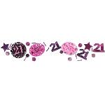 Confeti Celebración Rosa Edad 21 - 34g