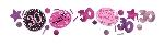 Confeti Celebración Rosa Edad 30 - 34g