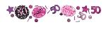 Confeti para celebración de color de rosa de 50 años - 34g