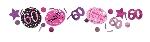 Confeti Celebración Rosa Edad 60 34g