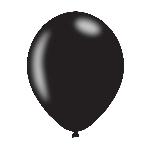 Globos 27cm Negro Perla