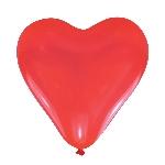 Globos Corazón Rojos de San Valentín Látex 28cm