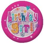 Insignia holográfica Happy Birthdaypara niña-5,5cm