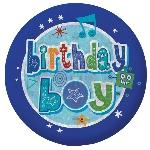 Insignia Holográfica Happy Birthday para niño-5,5cm