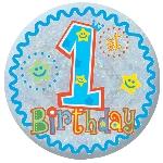Medalla Niño Felíz Primero cumpleaños - 5,5cm