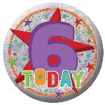 Medalla Felíz Cumpleaños ''6 Hoy'' 5,5cm
