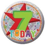 Medalla Feliz Cumpleaños ''7 Hoy'' 5,5cm