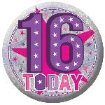Chapa Happy Birthday Cumpleaños 16 - 5,5cm