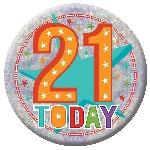 Medalla Grande Feliz Cumpleaños 21 - 15cm
