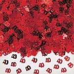 Confeti para Mesa / Invitaciones Rojo Aniversario 40