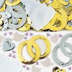 Confeti Campanas Oro y Plata para Mesa / Invitaciones