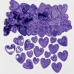 Confeti Corazones Violeta para Mesa / Invitación - 14g