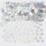 Confetti de corazones brillantes iridiscentes-14g