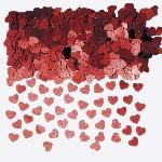 Confeti Corazones Metalizados Rojos - 14g