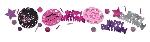 Confeti de cumpleaños de chispas de celebración de color de rosa