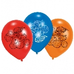 OUTLET - 6 globos latex Blaze 22,8 cm