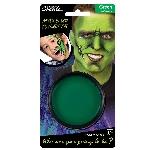 Tarro de pintura grasa color verde - Pintura para el rostro de 14g
