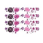 Confeti Fiesta Celebración Rosa Cumpleaños 70 34g