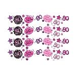 Confeti Papel Picado Celebración Rosa Edad 80 - 34g