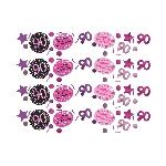 Confeti Celebración Rosa Edad 90 Bolsa de 34g