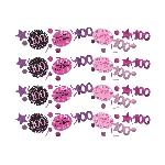 Confeti Celebración Rosa Edad 100 Bolsa de 34g