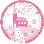 Platos Sagrada Primera Comunión Rosa - Platos de Papel de Fiesta 23cm