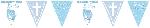 Banderín Metalizado Sagrada Primera Comunión Azul Aluminio