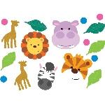 Confetti metalizado/papel amigos animales