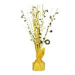 Centro de mesa de lámina metálica en amarillo-30cm