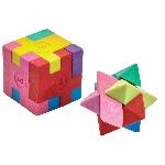 Goma de borrar puzle con forma de cubo