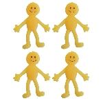 Hombre Sonriente de goma amarillo