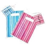 Bolsas Rayadas Azul y Rosa con Etiquetas - Bolsas para Chuches