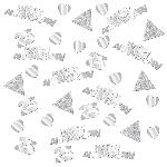 Confeti Papel Picado Brillante Aniversario de Bodas de Plata 25
