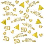 COnfeti Papel picado Brillante Mesa/ Invitaciones Aniversario de Bodas de Oro 50