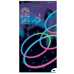 Glow Necklace10 Tri-Col 20cm