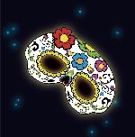 Antifaz luminoso floral - 19cm