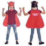 Set de Capa y Máscara PJ Mask Owlette - Disfraz de PJ Masks para Niñas 4-8 Años